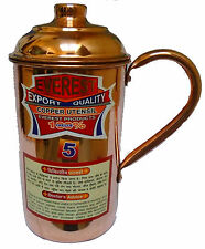 Traditional Pure Copper Jug Water Storage Flask Ayurvedic Health Benefits
