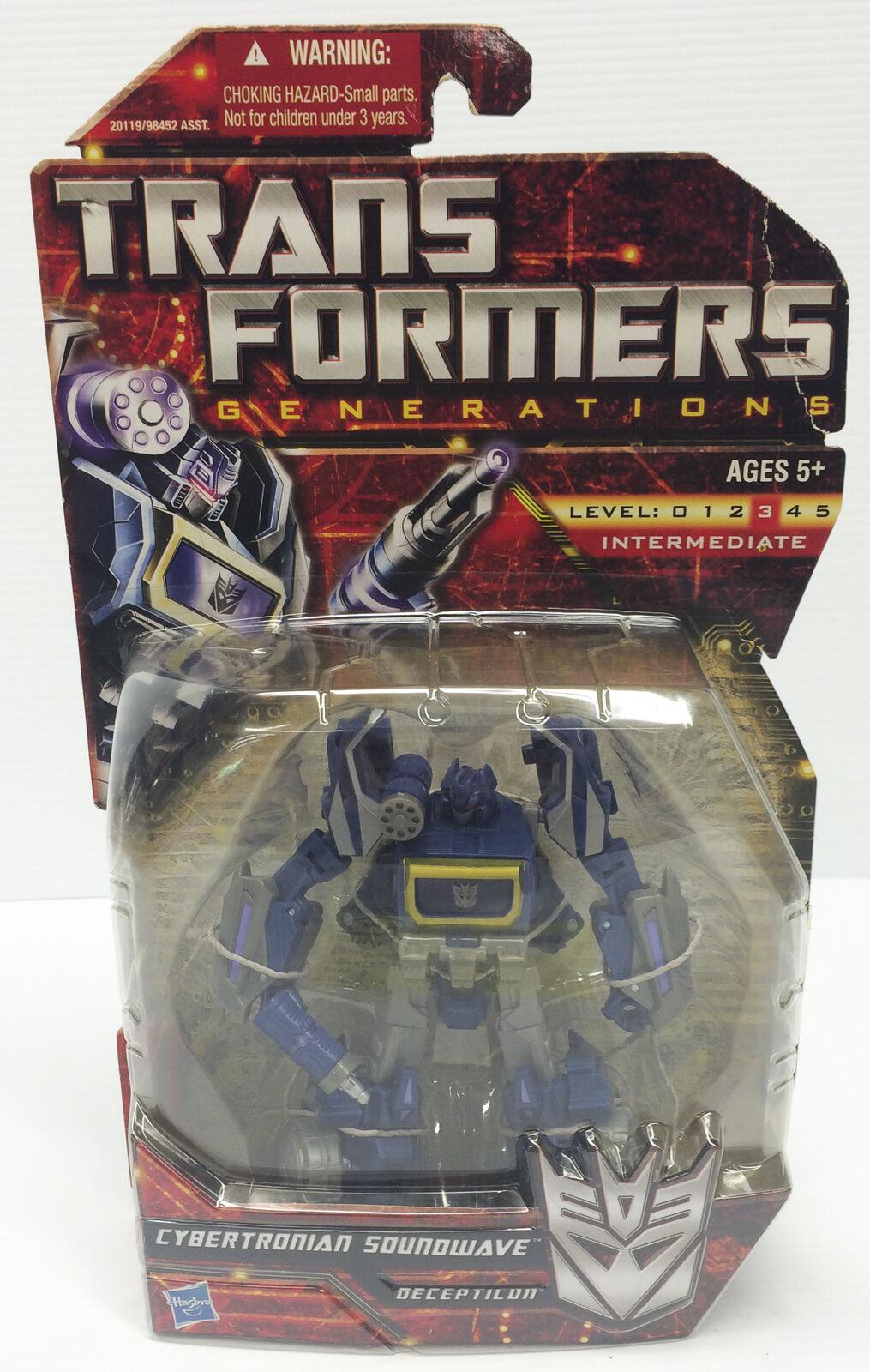 Transformers CYBERTRONIAN SOUNDWAVE Decepticon Hasbro Action Figure NIB Cleaned