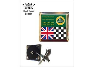 ROYALE CAR GRILL BADGE & FITTINGS - LOTUS CARS CONSTRUCTORS CHAMPIONS - B3.0001