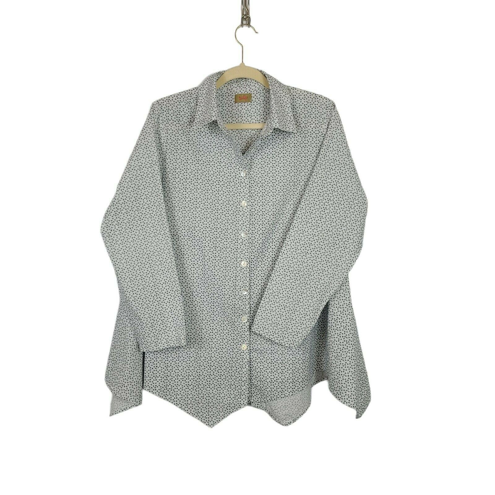 Tulip Women's Button Down Blouse Size Small Overs… - image 1