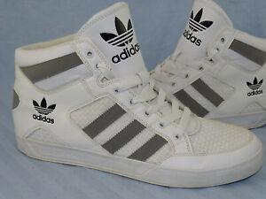 Détails sur Adidas Hard Court Hi Blanc Big Logo Sneaker Mid sporschuhe Chaussures RARE 46 23 afficher le titre d'origine