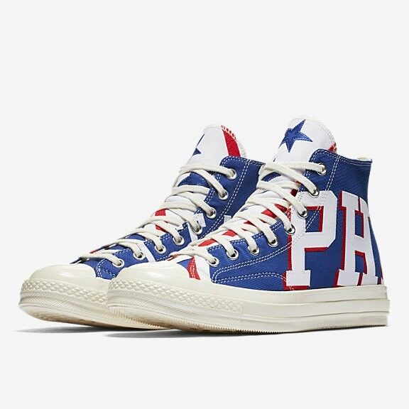 *250 PAIRS* Converse Chuck Taylor 70 Philadelphia 76ers Gameday Jersey High Top