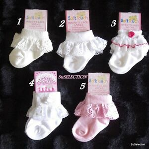 Baby gift socks with frills black 0-6 months NEW WITH TAGS