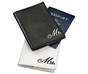WEDDING-HONEYMOON LUGGAGE TAGS & PASSPORT COVERS-MR. & MRS. & MORE MRS.!!
