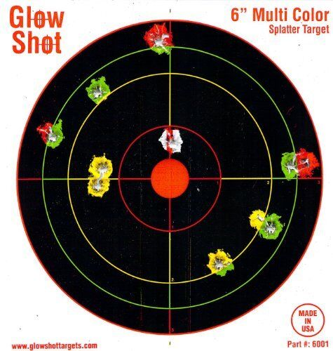 60 Pack  6 Reactive Targets Multi Color Shot