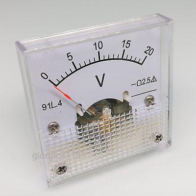 US Stock DC 0~20V Square Analog Volt Pointer Needle Panel Meter Voltmeter XT-72