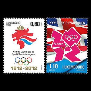 Luxembourg-2012-Jeux-olympiques-d-039-ete-de-Londres-Comite-Sports-SC-1332-3-neuf-sans-charniere