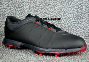 nike lunar fire 853738 001 golf shoes new black red golfing cleats rh ebay com