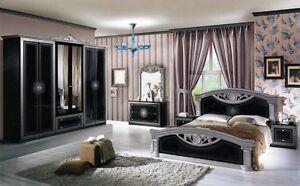 Dettagli su Camera da letto matrimoniale completa stile Barocco modello  Roma design