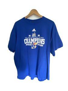 NCAA-2008-Mens-Basketball-National-Champions-Kansas-Jayhawks-Shirt-Adidas-XL