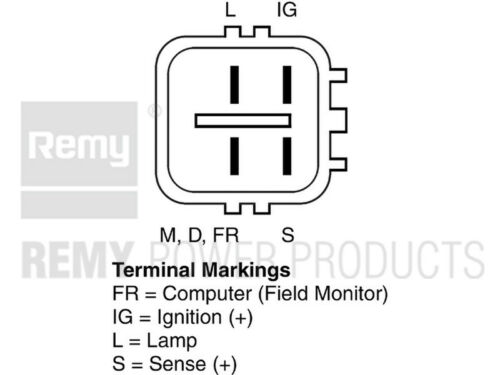 Alternator-Pre Runner Remy 12825 Reman fits 05-07 Toyota Tacoma 2.7L-L4