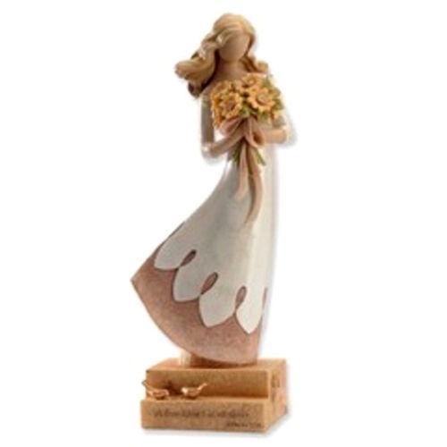 ENESCO~LEGACY OF LOVE ~FRIEND W// FLOWERS /& BIRDS~PROVERBS 17:17~FIGURINE~4024708