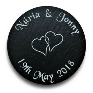 Personalised-Engraved-Slate-Coasters-New-Home-Anniversary-Wedding-Gift-His-Hers