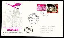 """Erstflug FFC LH  """"Stuttgart - Zürich"""" 14.04.1957 !! HS 139  selten"""