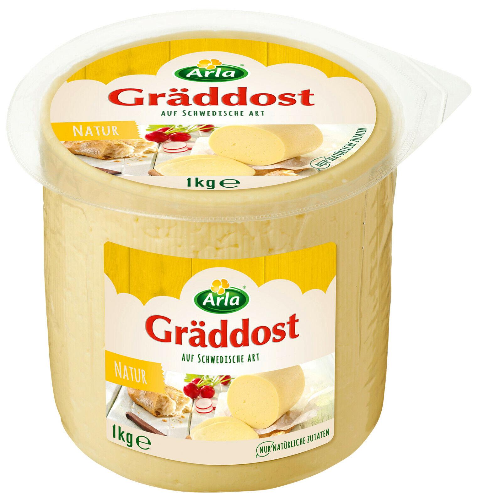 Arla Gräddost Natur Rahmkäse Butterkäse Laib 1kg