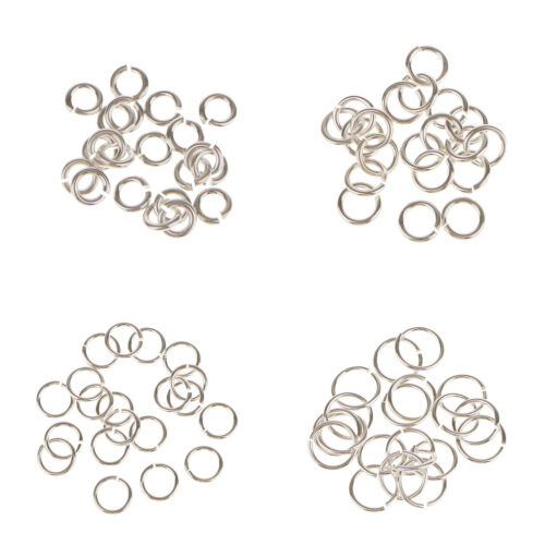 40Pc 925 Sterling Silver 3mm 6mm Split Ring Jump Rings Link Jewlery Charms