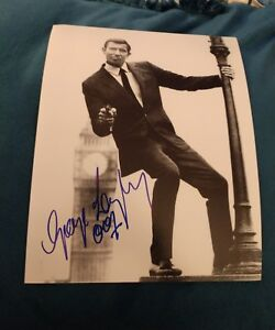 GEORGE LAZENBY SIGNED 8X10 PHOTO JAMES BOND 007 CONNERY DC W/COA+PROOF RARE WOW