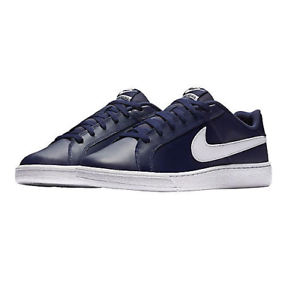 Nike-Court-Royale-Baskets-Homme-NIKE-En-Cuir-Court-Tennis-Baskets-Bleu-Marine-Taille