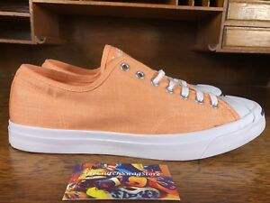 71c9eedc56e9 Converse Jack Purcell Ox Mens Peach White Low Top Shoes 155634C MSRP ...