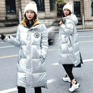 Winter-Women-Silver-Down-Hooded-Puffer-Jacket-Windproof-Long-Quilted-Coats-Parka