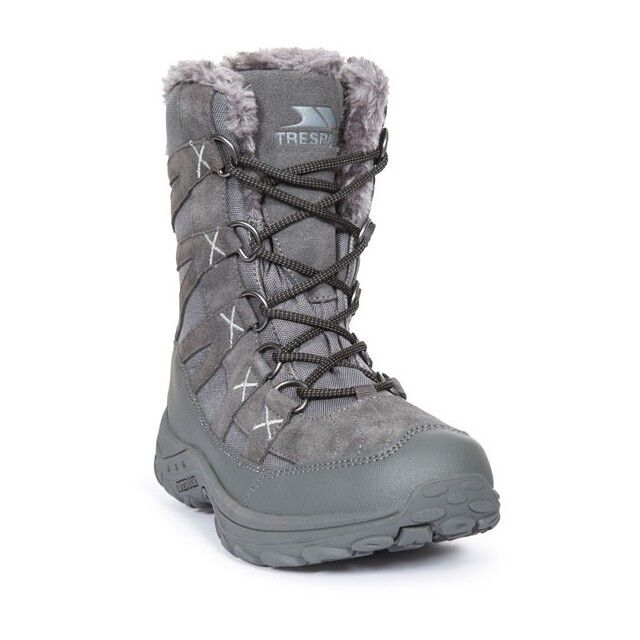 Trespass Ladies  Winter Ski Thermal lined Snow Boot Grey Size 4-37 to 7-40  cheaper prices