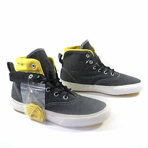 Men'S Converse All Star Skidgrip Hi Top Nero Giallo Scarpe Da Ginnastica Stivali UK 9