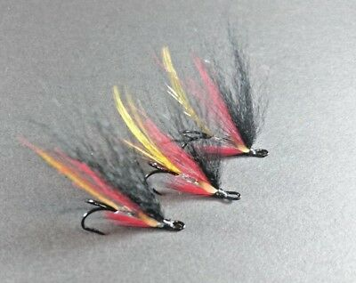 blue variant sea trout and salmon fly 3 x silver stoats tail double