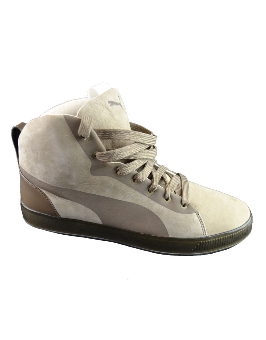 Herren Puma hoch TOP 'Urban Glide' Stiefel Beige (pufw001)