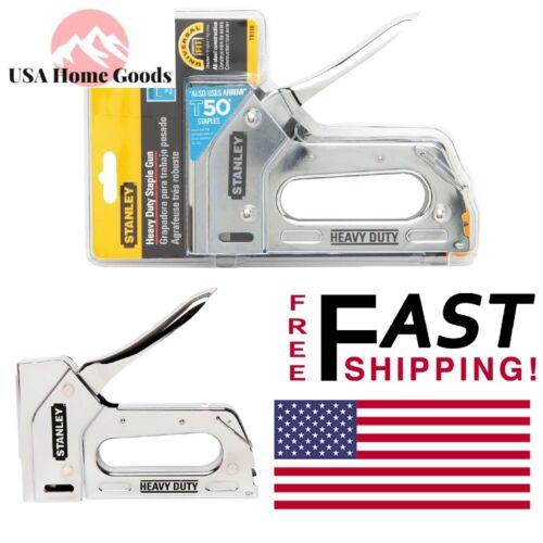 Stanley Heavy-Duty Staple Gun Chrome-Plated Steel Lightweight Quick Jam Clear