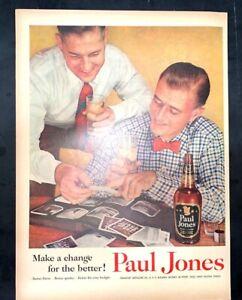 Life Magazine Ad PAUL JONES WHISKEY reverse JELLO-O 1954 A3