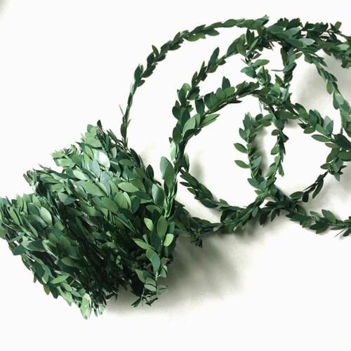 7.5M Garland Green Leaf Wire Vine Rattan Artificial Flower For DIY O1O7