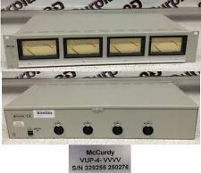 McCurdy VUP-4-VVVV 4 Channel Professional Analog VU Meter