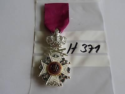 h371 Orden Belgien Leopoldorden silbern mit Krone und Schwerter