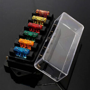 details about 6 way circuit automotive middle sized blade standard fuse box block holder uk automotive fuse box wiring automotive fuse box uk #12