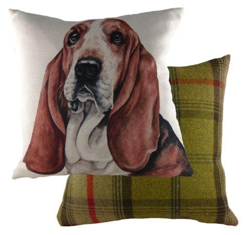 """17 /""""bassett hound dog coussin Evans Lichfield dpa266 waggydogz 43 cm"""