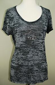 Big-Star-Jeans-Tee-By-Big-Star-Women-039-s-Black-Burn-Out-T-Shirt-Size-Large
