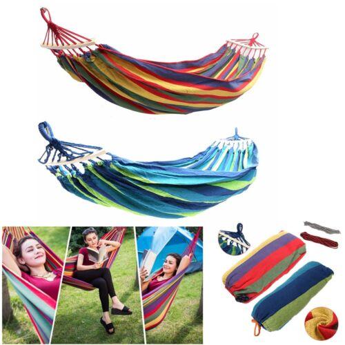 Garden Hammock Chair Hanging Swing Seat Hang Bed Outdoor Travel Camping 2