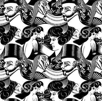 M C Escher Bond Print Poster Giclee