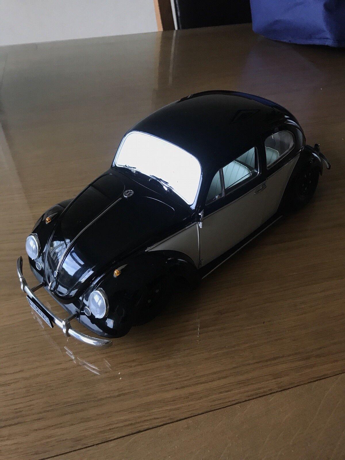 VW BEETLE SALOON 1961 Noir Blanc, Modèle De Voiture 1 12 Sun Star claqué modifié