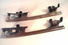 Vintage Union STEEL Clamp On Metal Ice Skates Retro Art Decor Antique