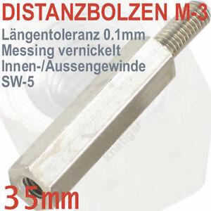 Abstandsbolzen-Messing-vernickelt-Innen-Aussen-M-3-Laenge-35-mm-deutsche-Qualitaet