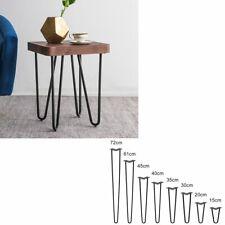 en.casa ® 4x Hairpin Leg Tischbein Haarnadelbeine Tischkufen DIY 61cm Schwarz