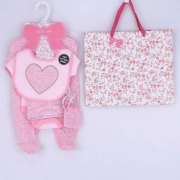 Babies Boy Girls 3 Piece Newborn to 6 Months Baby Grow Cotton Gift Set 0-3 3-6m