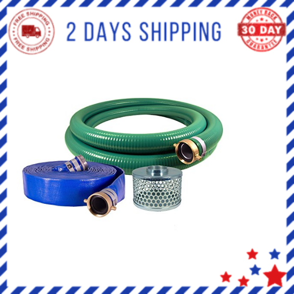 """2/"""" PVC Water Suction and Water Discharge Quick-Connect Hose Kit"""