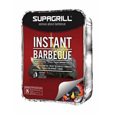 611101012 Disposable Complete Barbeque Tray Lumpwood Charcoal Barbecue SupaGrill