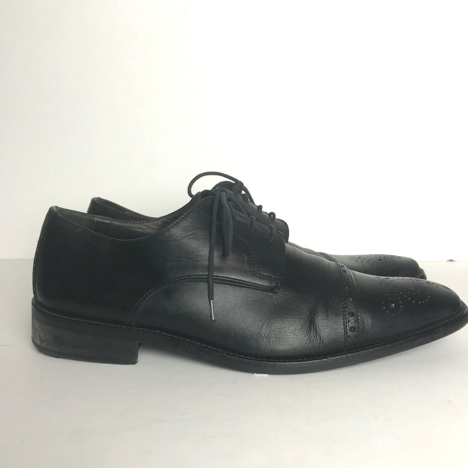 ADAM DERRICK To Boot New York Black Leather Oxford Brogue Cap Toe Dress shoes 10