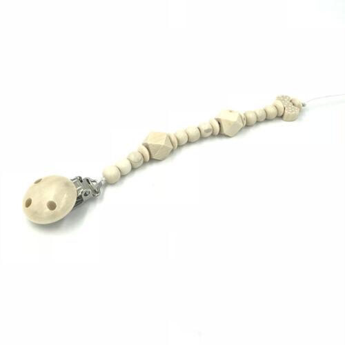 Naturholz Schnuller Clips Holz Perlen Schnullerkette Schnuller Baby Fütterung