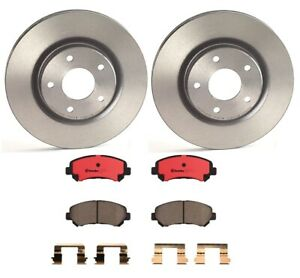 Front Disc Brake Rotors And Ceramic Pads Kit For Nissan Rogue Sport Qashqai