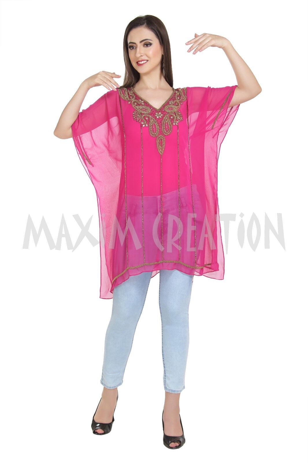 Women's Traditional Wear Blouson Daily House Use Short Kurti Top Only 6517