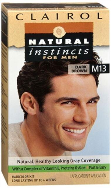 Clairol Natural Instincts For Men Hair Color Dark Brown M13 Ebay